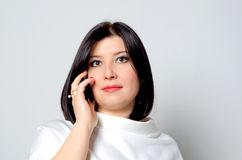 Woman with the phone. Stock Image