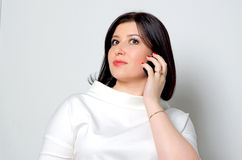 Woman with the phone. Stock Photography