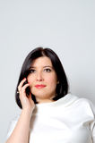 Woman with the phone. Royalty Free Stock Photos
