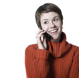 Woman phone talking Royalty Free Stock Photography