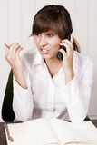 Woman on a phone Stock Photo
