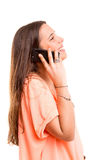 Woman at the phone Royalty Free Stock Photo