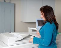 Woman Photocopying Stock Image
