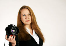 Woman Photographer Royalty Free Stock Images