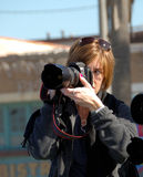 Woman Photographer Stock Images