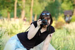 Woman photographer Royalty Free Stock Image
