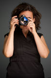 Woman photographer Stock Image