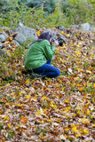 Woman photographer Royalty Free Stock Photos
