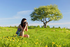 Woman photographer Royalty Free Stock Photography