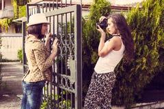 Woman photographer Stock Image