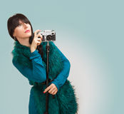 Woman photographer Stock Photography