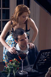 Woman and piano Royalty Free Stock Images