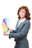 Woman picking color Royalty Free Stock Photos