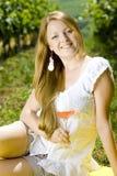Woman at a picnic Royalty Free Stock Photo