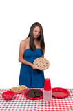 Woman Picnic Royalty Free Stock Image