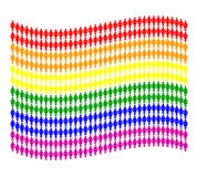 Woman pictogram flag. Rainbow gay flag made of woman pictogram Royalty Free Stock Image