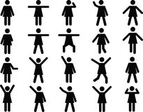 Woman pictograms Royalty Free Stock Photo