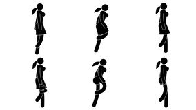 Woman pictograph is walking, running