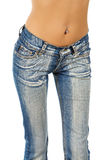 Woman with pierce navel Stock Image