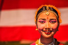 Woman with piercings in Assam royalty free stock photography
