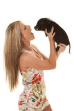 Woman pig mouth Royalty Free Stock Image