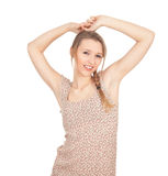 Woman in pigtail Stock Photos