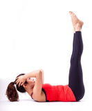 Pilates action Royalty Free Stock Photo