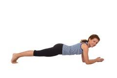 Woman pilates Stock Image