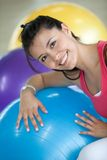 Woman with pilates ball Royalty Free Stock Photography