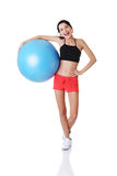 Woman with pilates exercise ball. Stock Photography