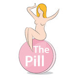 Woman On The Pill Royalty Free Stock Photo