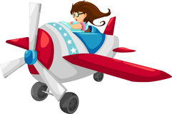 The woman pilot vector. The woman pilot isolated illustration vector Stock Images