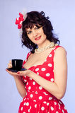 Woman pin-up Stock Photo