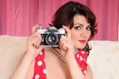 Woman pin up Stock Photos
