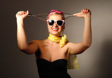 Woman in pin up style. Royalty Free Stock Images