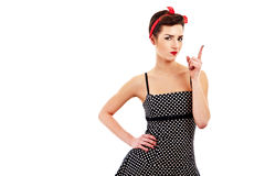 Woman pin-up style Stock Photo