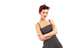Woman pin-up style Stock Photos