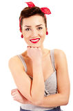 Woman in Pin-up style Stock Photo