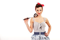 Woman in Pin-up style smiling Royalty Free Stock Photography