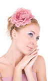 Woman in pink Royalty Free Stock Image