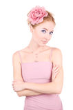 Woman in pink Royalty Free Stock Images