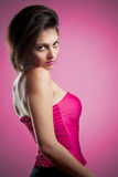 Woman in pink Stock Image