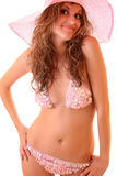Woman  in pink  bikini Stock Images