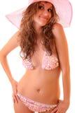 Woman  in pink  bikini Stock Images
