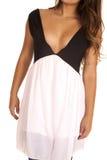 Woman pink black top sheer Royalty Free Stock Photos