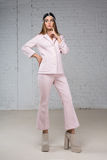 Woman in a pink business suit, thought Stock Photography