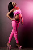 Woman in pink clothes Stock Photography