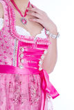 Woman in pink dirndl Royalty Free Stock Photos