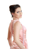 Woman in pink dress Stock Photography