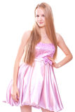 Woman in a pink dress Royalty Free Stock Images